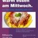 Plakat - Warm essen am Mittwoch