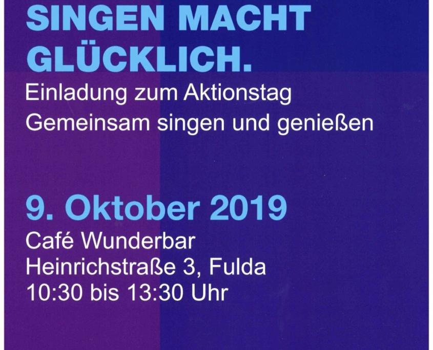 Plakat - Gemeinsames-Singen - Tag der seelischen Gesundheit - Diakonie Fulda