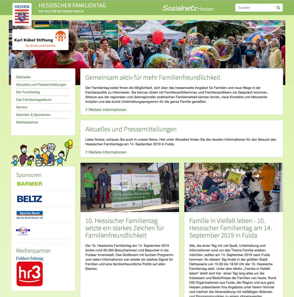 Website Hessischer Familientag